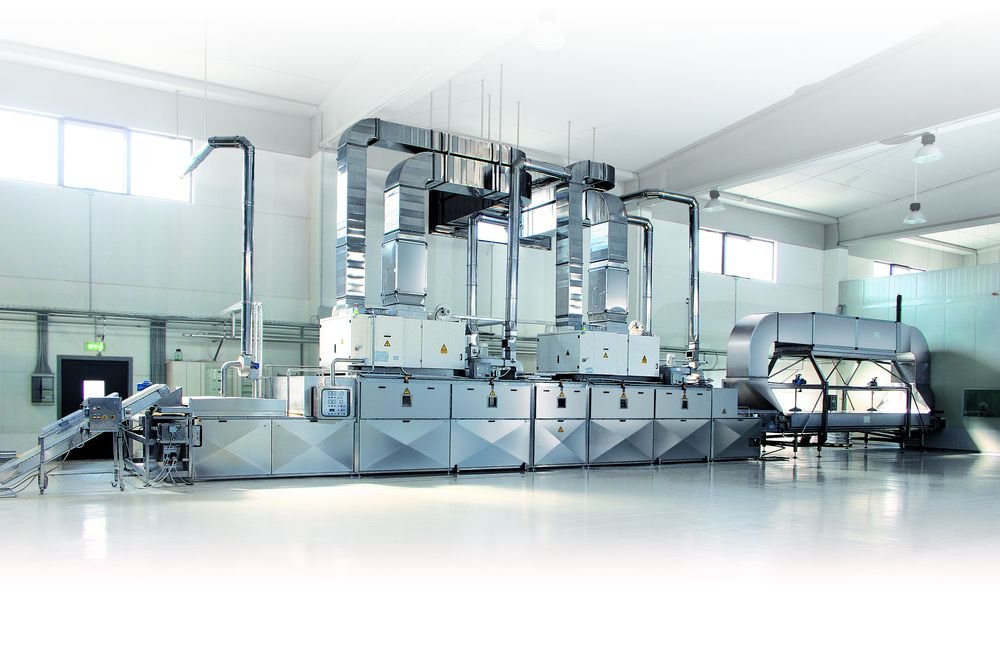 Stalam ARF 2x40 kW pasteurisation and drying system for fresh semolina pasta, output ca. 700 kg/h (Courtesy Stalam)
